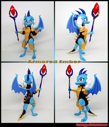 Armored Ember 3D-printed figurine by Laservega