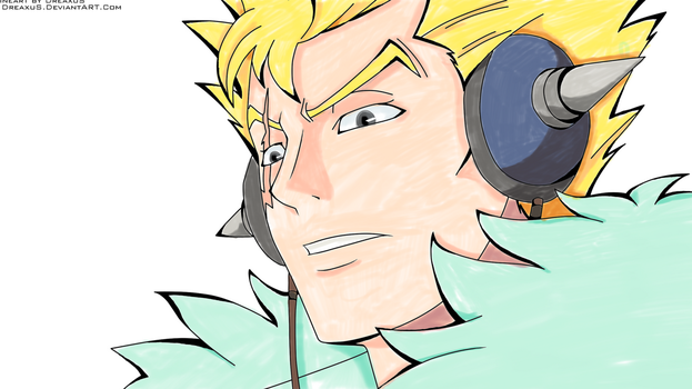 Laxus Copic by ScarletCB1999