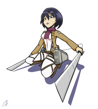 Mikasa (Attack Stance) by Mastastealth