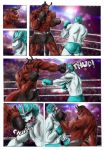 Comic commission - Merciless beating 1 by FuriarossaAndMimma