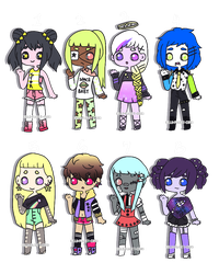 Starry Adopts [1/8 OPEN] by hello-planet-chan