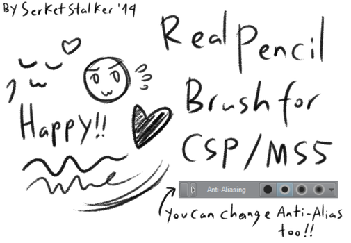 + Real Pencil Brush | For MS5/CSP + by SerketXXI