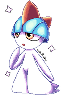 Shiny Ralts by AnettRuby