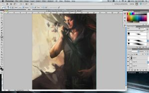 wip: Daryl and Cherokee rose 2 by Brilcrist