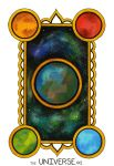 The Universe Tarot Card by NoraBlansett