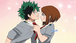 Ochako and Izuku by S4chi