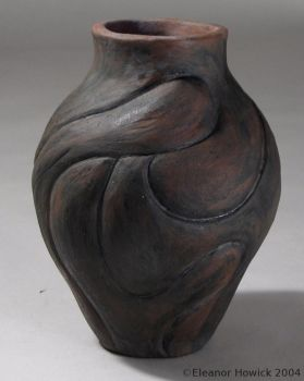 Pot with Figure Relief by elfnor