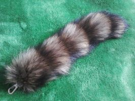 Raccoon Tail Keychain by KonekoKaburagi