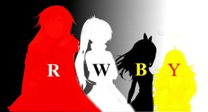RWBY Title and Character Row by DarkSpace141