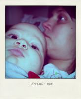 Luis and mom - polaroid style by Wonderm00n