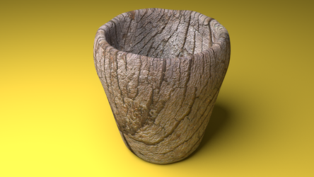Wood Cup by Tessakc
