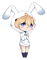 .:Cutie pie bunny boy:. by LunaticLily13