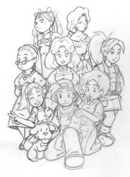 Harvest Moon Pencils by Marvelousboy
