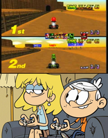 Lincoln and Lori Playing Mario Kart 64 by MikeJEddyNSGamer89