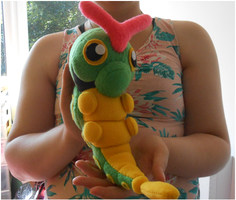 Handmade caterpie plush, pokemon plush