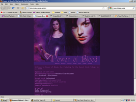 Old website design: Secret Circle by jadedlioness