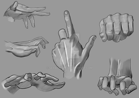 Hand Study Surface 2 by Seraphinae