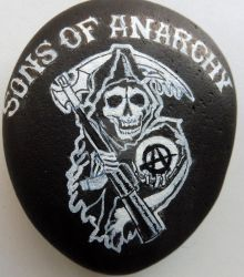 sons of anarchy painted rock 2 by ahembe