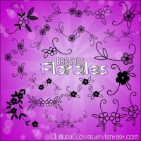 Pack de brushes florales by LauraClover