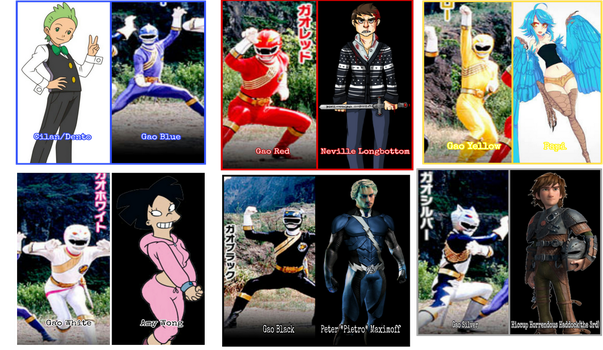 GaoRanger Portrayed by Any Characters by Tabacookie