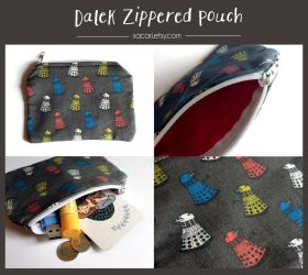 Dalek Zippered Pouch by Sacari