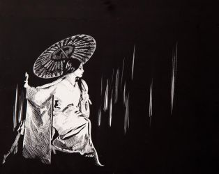 Drawing 2- Geisha by FrogMouthKid