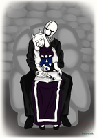 Gaster and Toriel - First Fall Evening. by SoulerClash