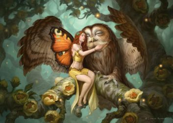 Fairy and Owl by namesjames