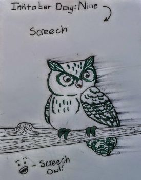 Inktober [Day 9: Screech] by TheOrangeDaisy
