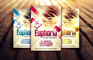 Euphoria Nightclub/Party Flyer by Dannygdesigns