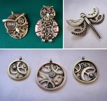 Clockpunk pendants 12 by Astalo
