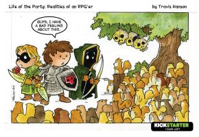surrounded by deadly cuteness RPG Comic by travisJhanson