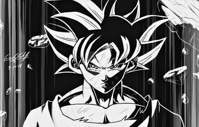 Goku Negative by EnlightendShadow