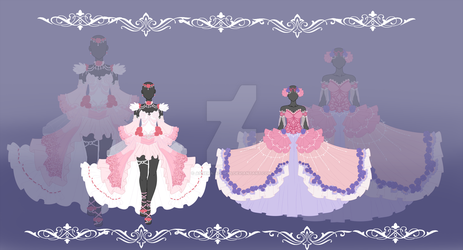 Rose Gown Adopts - Auction Open (points or paypal) by Ashera-Adopts