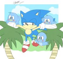 Bless Classic Sonic! by sarahlouiseghost