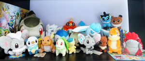 Pokemon Plush Army by Quillyfox