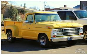 A Yellow Ford Stepside Truck by TheMan268