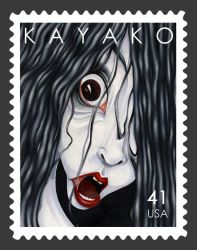 The Grudge Stamp by jadefrolics