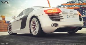 Audi R8 - harbour 3D RENDER by WickdArt