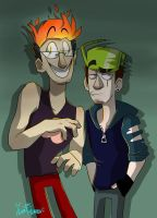 Darkiplier and Antisepticeye :D by IvaTheHuman
