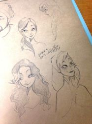 Drew my classmates in the style of Frozen! by Akuhen
