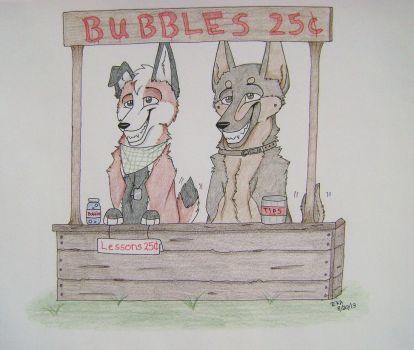 Bubblestand by Huskypawz