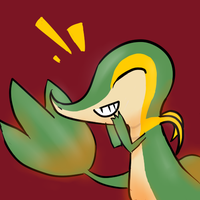 SNIVY SMILE by CandidCanine