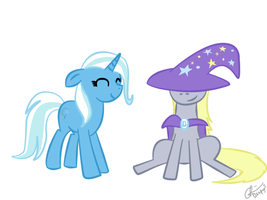 The Great Derpy and Trixie by Krellyan
