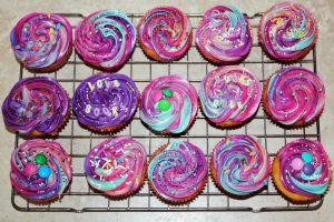 Purple Swirl Cupcakes by peeka85