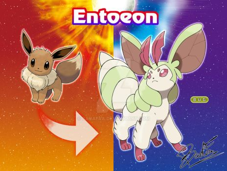 eevee Bug evolution - Entoeon by badafra
