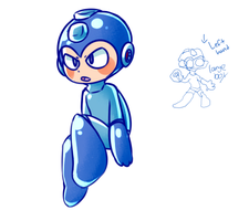 Mega Man by retroraptor