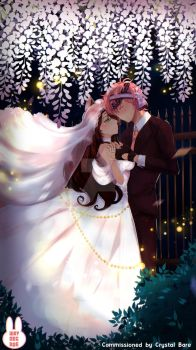 [Commission] Wedding with Fireflies by wryn-negade