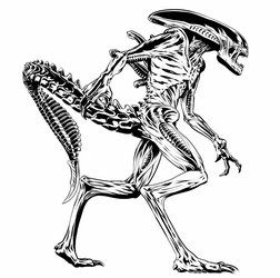 Alien Black and White by JoeGrafix