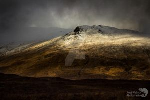 Stormy winter mountains by AngiWallace